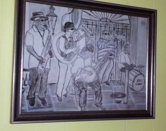New Orleans Musicians Framed print