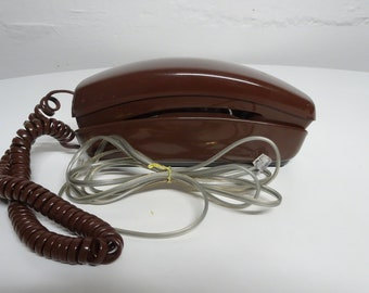 Vintage Western Electric Bell System Trimline Touch Tone Push Button Desk Telephone - FREE SHIPPING