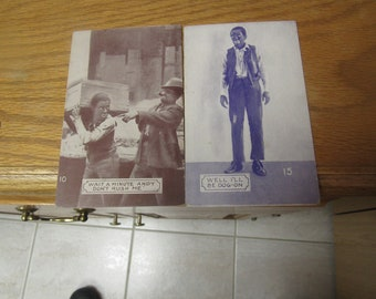 Two c1930's Amos and Andy Postcards