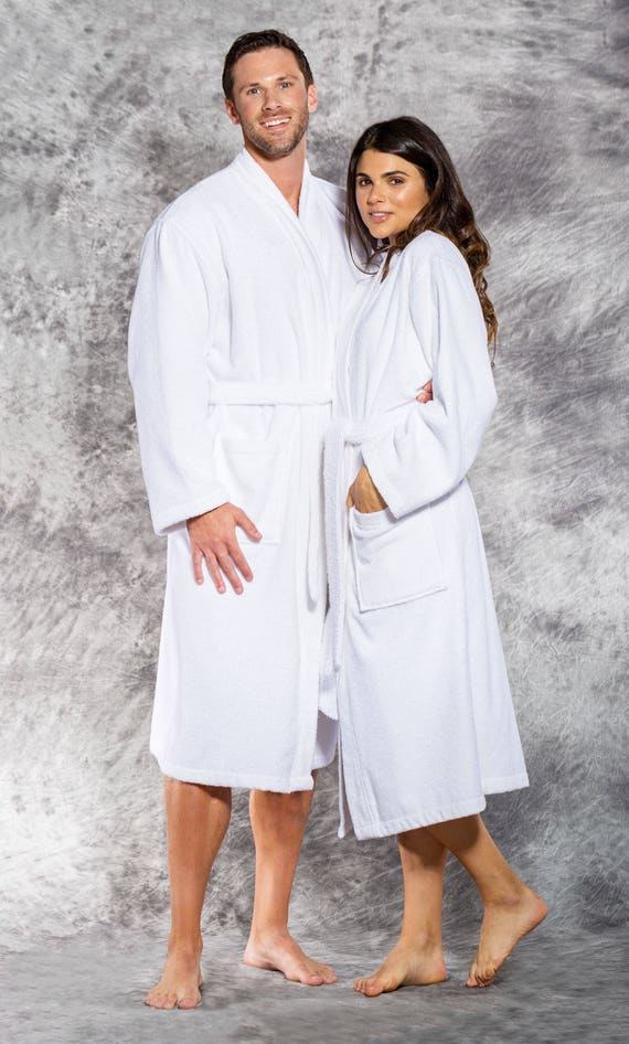 Terry Cloth Robe Women's or Men's Robe Personalized Longer Length Robe Monogrammed robe Thick and cozy Embroidered 100% Cotton 4 colors. U6JnwB