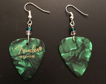 Guitar Pick Earrings (Multiple Colors)