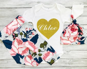 Newborn Outfit, Newborn Outfit Girl, Winter Baby Girl Clothes, Newborn Girl Clothes, Newborn Girl Outfit, Personalized Take Home Outfit Girl