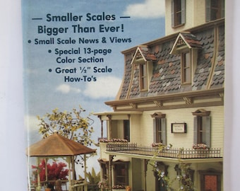 Vintage  Miniaturist's magazine Nutshell News September 1986 out of print back issue used
