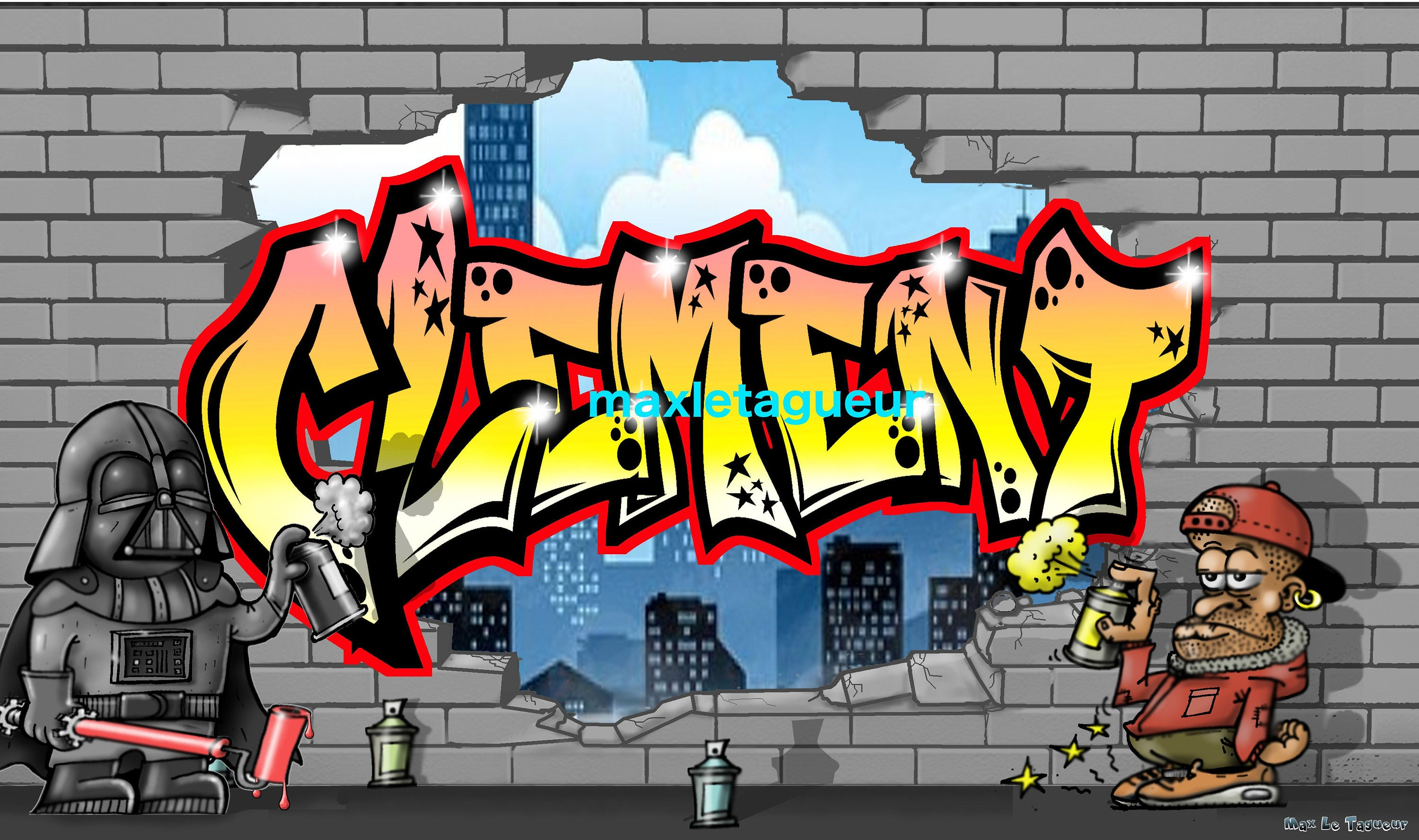 Graffiti Personnalisable Tag Cl Ment New Style Impression Sur