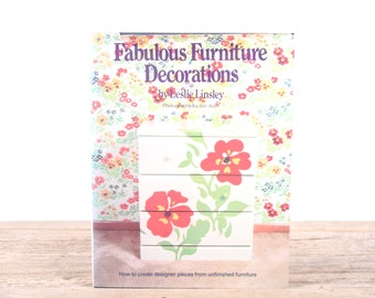 1978 Fabulous Furniture Decorations Design Book / 1970s Furniture Design / Antique Home Design Book  / Vintage Americana Coffee Table Book