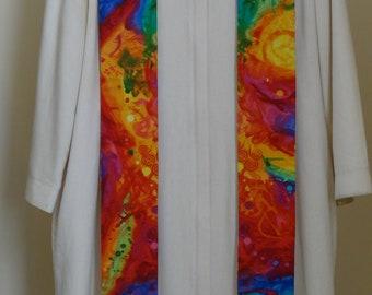 Clergy Stole:   Color Splash