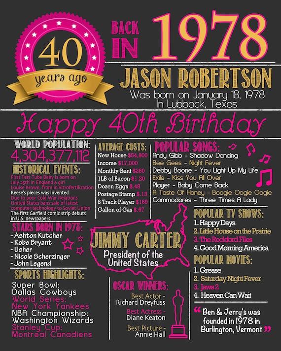 Voorkeur 40e verjaardag Poster 40e verjaardag schoolbord Poster 40 AE31