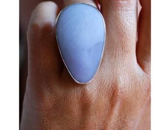 Lilac Raw Lepidolite Ring