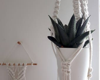 Small macrame plant hanger   Succulents plant hanger   hanging planter   plant pot holder   rustic   boho   Scandi   minimal