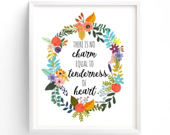 Jane Austen, There Is No Charm, Equal To Tenderness Of Heart, Wall Art, Quote Prints, Printable, Art Prints, Printable Art