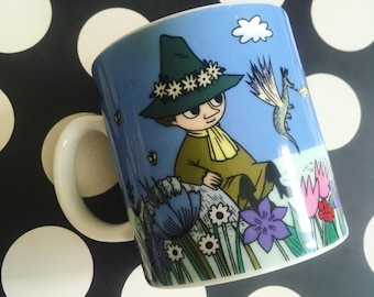 Kawaii vintage Snufkin from The Story Of Moomin Valley cermaic mugs from Japan for your collection