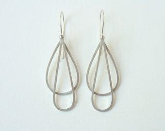 Silver Dangly Whisk Inspired Earrings