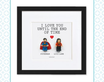 LEGO COUPLE - Superman & Lois Lane - Perfect for Valentine's Day, Wedding or Anniversary gifts - DC Comic's - Love - Clark Kent