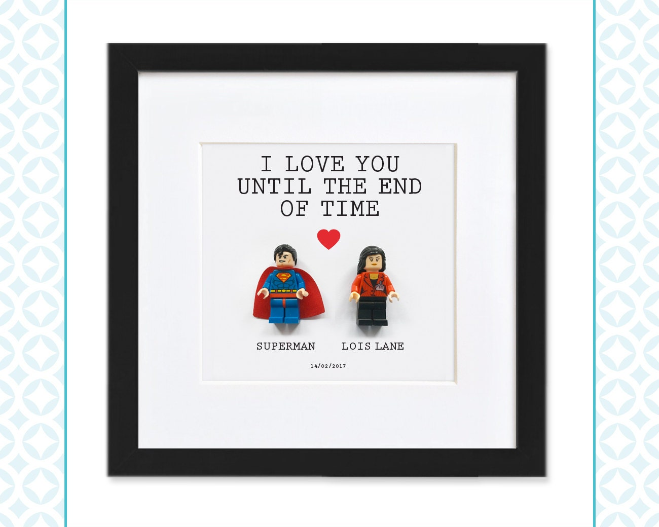 LEGO COUPLE Superman & Lois Lane Perfect for