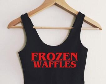 Frozen Waffles Spandex Crop Tank - by So Effing Cute