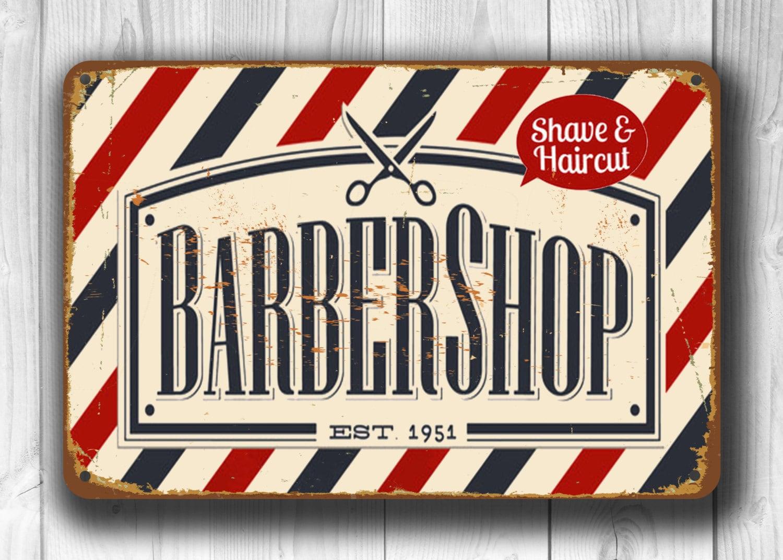 Vintage Barbershop BARBER SHOP SIG...