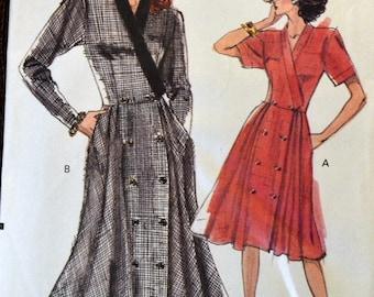 Vintage Misses' Dress Sewing Pattern Vogue 7554  Size 12-14-16 Bust 34-36-38 inches Uncut  Complete