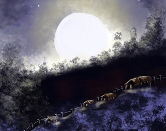 Moonlight Over The Hill Houses