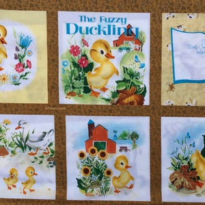 Little Golden Books The Fuzzy Little Duckling Quilting Treasures panel Oop Htf