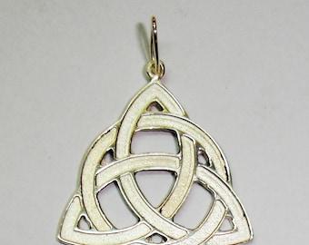 Silver Triqueta pendant, Celtic.