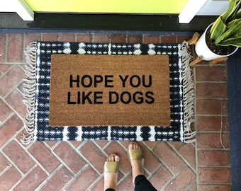 Dog Doormat / Funny Dog Door Mat / Welcome Mat / Rude Doormat / Custom Doormat / Cute Doormat / Newlywed Doormat / Spring Doormat / Dog Rug