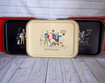 Vintage Clement Metal Trays