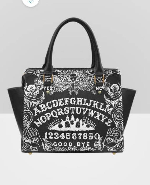 Ouija Board Black Shoulder Handbag