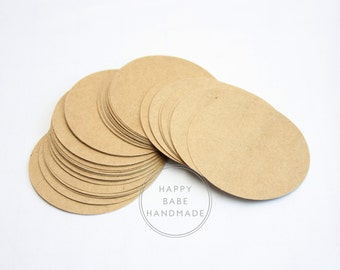 "Kraft Round Tags, 2.5"", 50 75 100 150 or 200, Kraft Tags, Large Tags, Price Tags, Gift Tags, Rustic Tags, Wedding Favor Tag, Merchandise Tag"