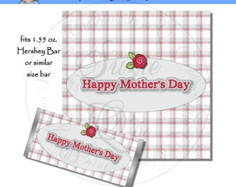 Mother's Day Candy Bar Wrapper - Digital Printable - Immediate Download