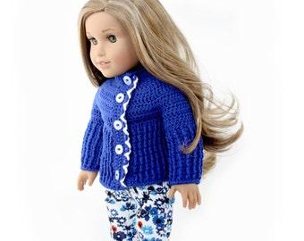 """Download Now - CROCHET PATTERN 18"""" Doll Elyn Cardi Crochet Pattern"""