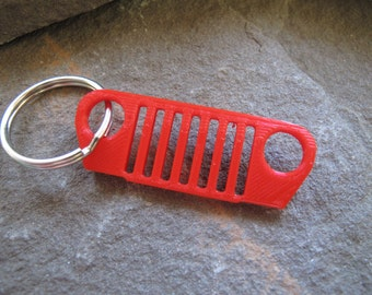 "PLA Jeep grill keychain, 3D printed Jeep grill, ""it's a jeep thing"", personalized color Jeep grill, Jeep grill keychain"