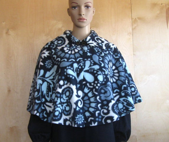 Adaptive Wheelchair Poncho Clothing, Hospital Fleece Cape, Bed Jacket, Adult Senior Short Cloak