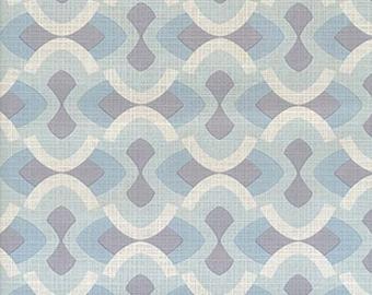 Original Mid Century Modern Blue Justintime Geometric Wallpaper 1970s Mod