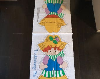 """NEW Vintage Old Stock Strawberry Shortcake Huckleberry Pie Boy Fabric Pillow Doll Craft Kit, Large 20"""", 1980, #5709, American Greetings, Spr"""