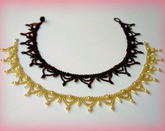Classic Bead Collar necklace beading TUTORIAL