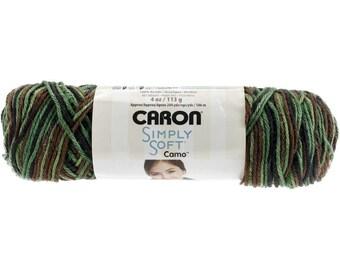 Acrylic Yarn Renegade Camo Caron Simply Soft 11483 Renegade Camouflage Yarn