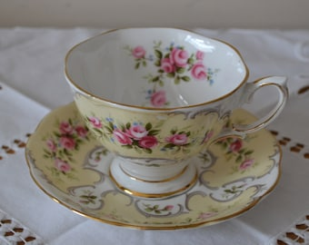 Royal Albert 'Collette' Cup and Saucer - Rose du Barry Series