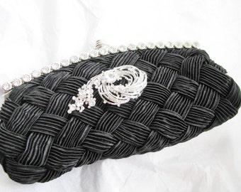 bridal, rhinestone, clutches, Weddings, bridesmaid, Wedding clutch, Bridesmaid purse, wedding purse, Bags and purses, satin clutch