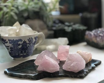 Natural Rose Quartz Cluster to bring Love & Romance in your home