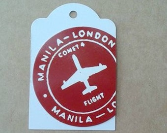 Gift Tags / Plane / Up-Cycled Gift Tags / London Flight Tag / Set of 3