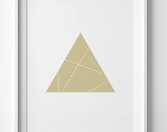 Geometric poster, gold printable art, modern decor, geometric wall art ,geometric print, gold wall art, gold print, best seller wall decor
