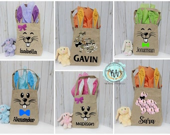 Personalized Easter Bunny Bag·Bunny Tote Bag·Easter Basket·Egg Hunt·Easter Tote·Personalized Easter·Bunny Bag·Easter Gift·Bunny Ears·Easter
