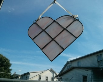 Pink Heart Stained Glass - #407