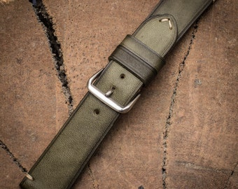 Handcrafted leather watch strap 22mm Vegetable tanned leather watch strap 18 mm 20 mm watch band 22 mm 24 mm watch strap
