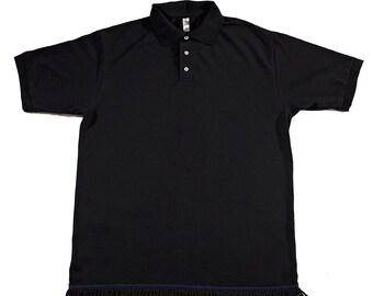 Black Fringed Polo