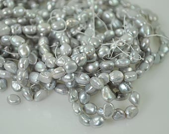 51 Silver Fresh Water Pearl 5mm beads
