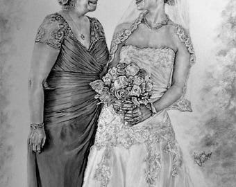 Custom made wedding portrait-11x14-EXAMPLE ONLY