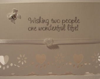 Handmade Personalised Wedding Card, Personalized Wedding Card, Custom Wedding Card,