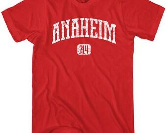 Anaheim 714 T-shirt - Men and Unisex - XS S M L XL 2x 3x 4x - Cali Tee - 4 colors