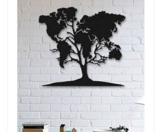 World Tree Metal Wall Decor